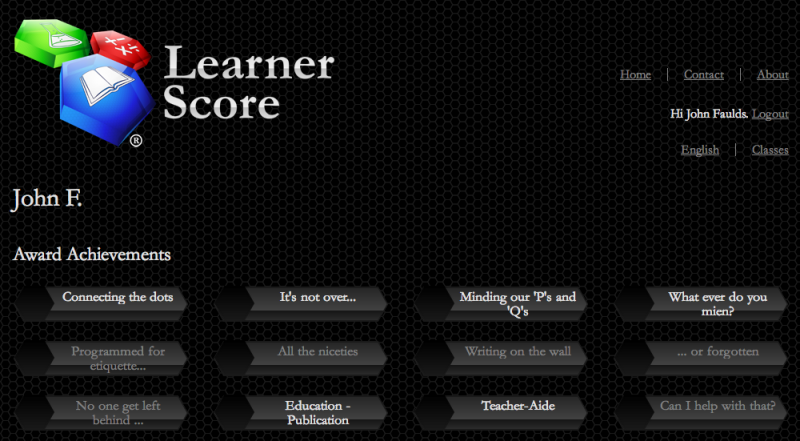 LearnerScore website screenshot